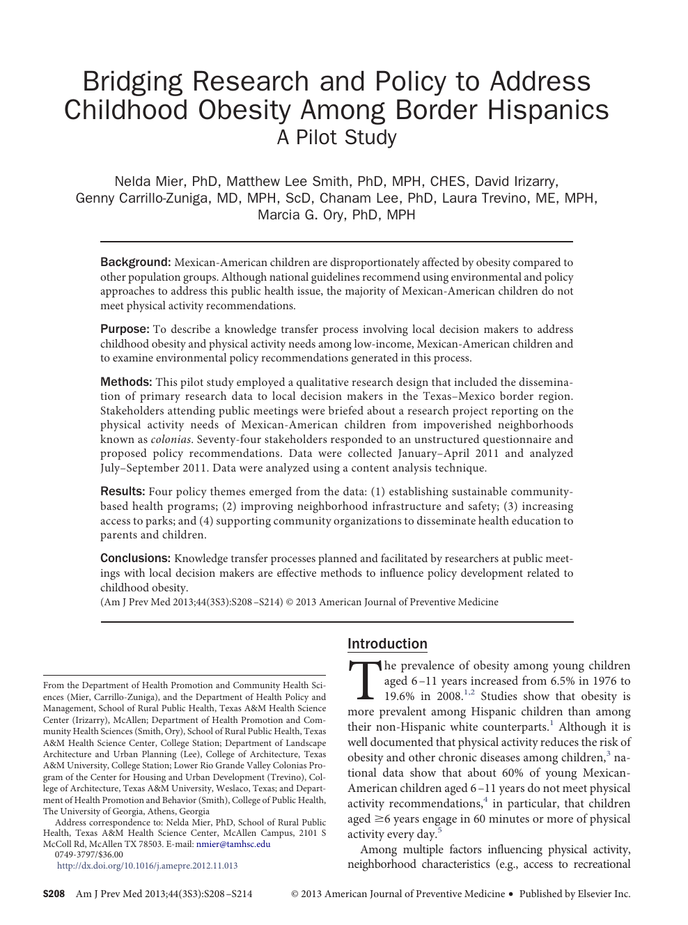 016 Obesity Research Paper Conclusion Unique Childhood Full