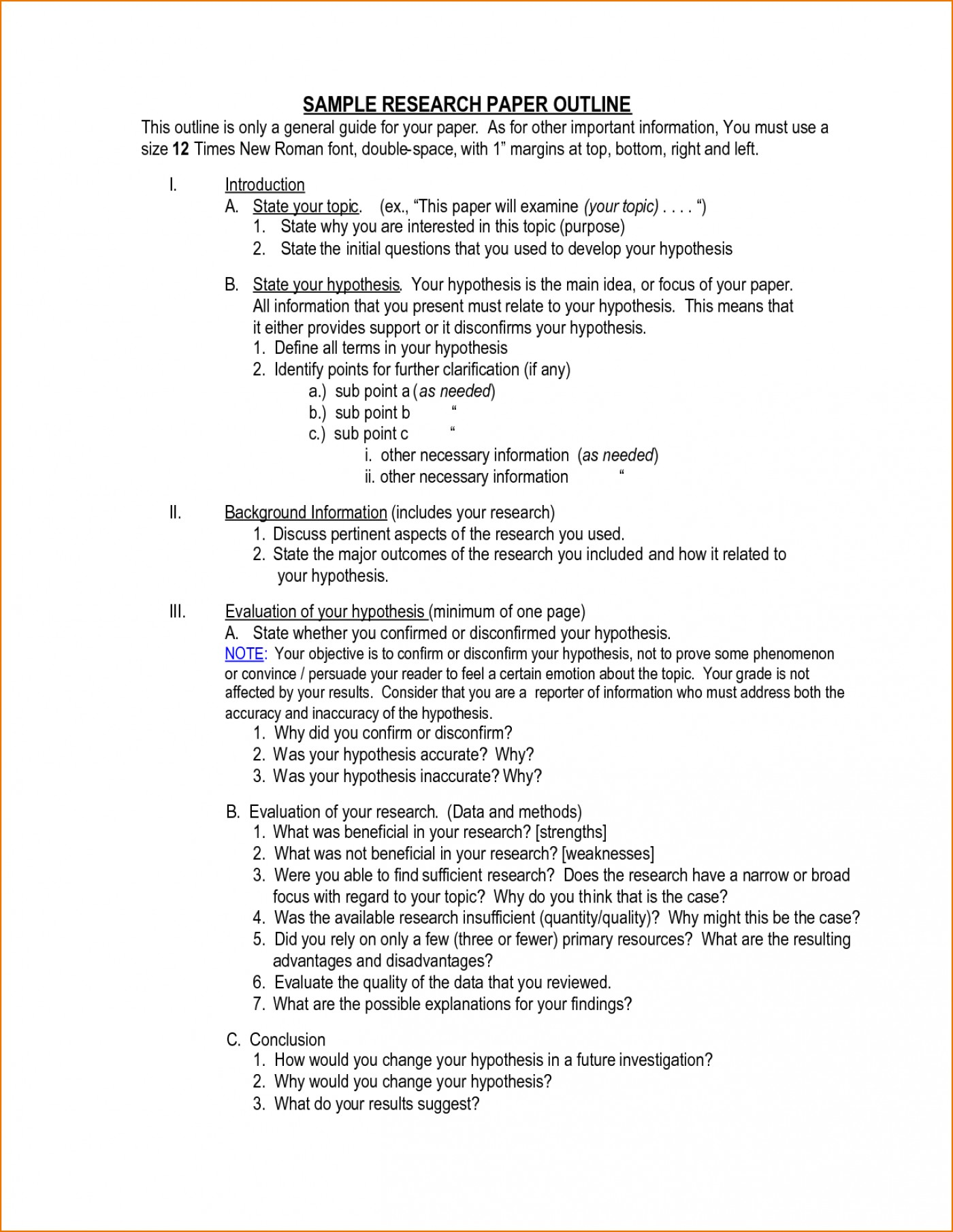 016 Outline Template For Research Paper Magnificent Hypothesis Writing In Null Meaning 1400