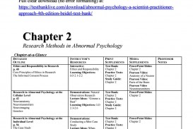 016 Page 1 Abnormal Psychology Topics For Research Unique Paper