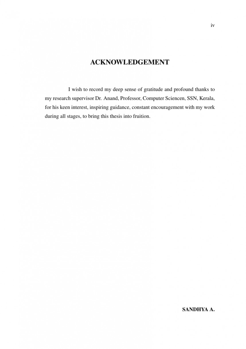 016 Research Paper Acknowledgement Example For Article Rare Pdf