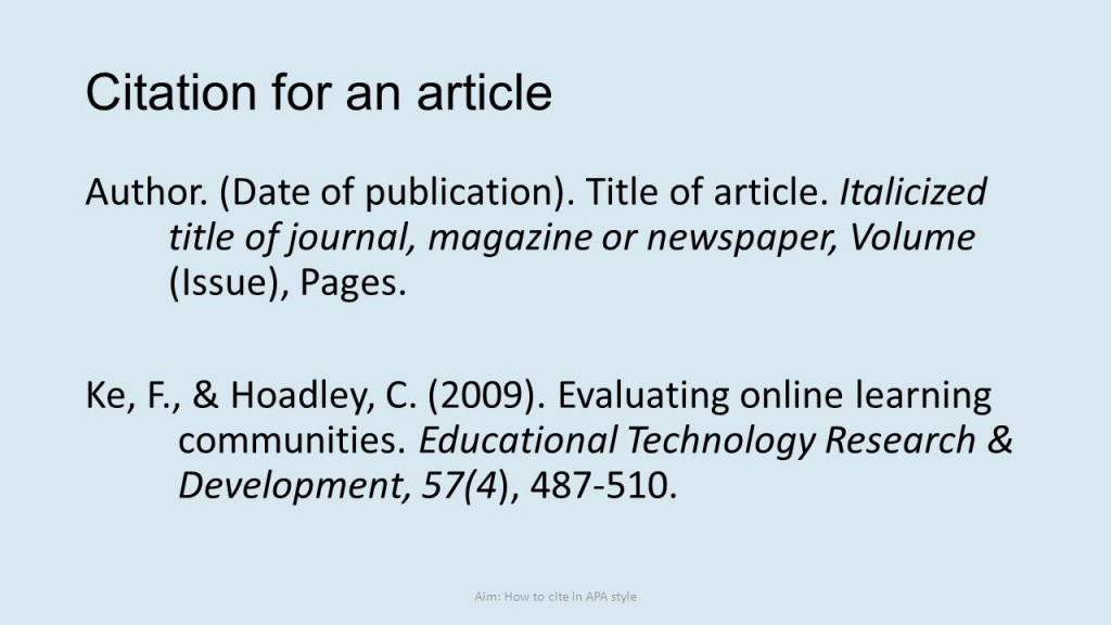 016 Research Paper Apa Citation Online Article Dreaded Large
