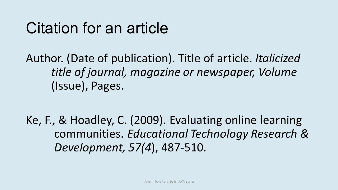 016 Research Paper Apa Citation Online Article Dreaded Full