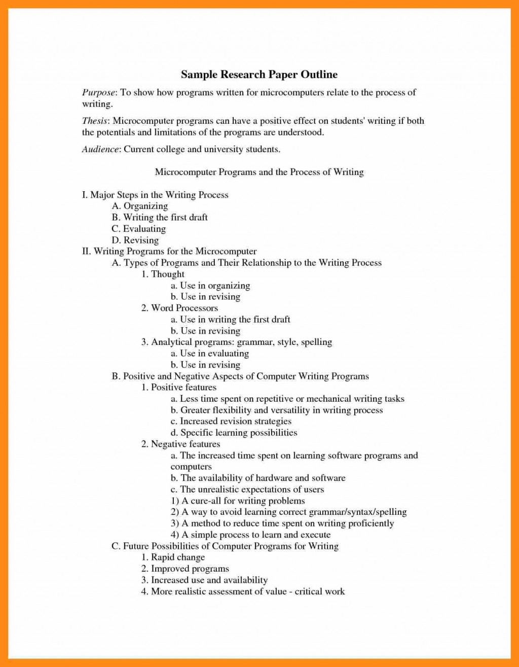 016 Research Paper Apa Outline Format Sample College Example 159089 Stupendous Large