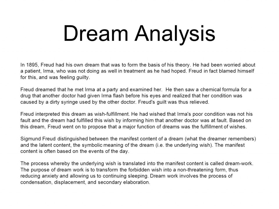 016 Research Paper Dreamanalysis Psychology Topics On Rare Dreams Papers 960