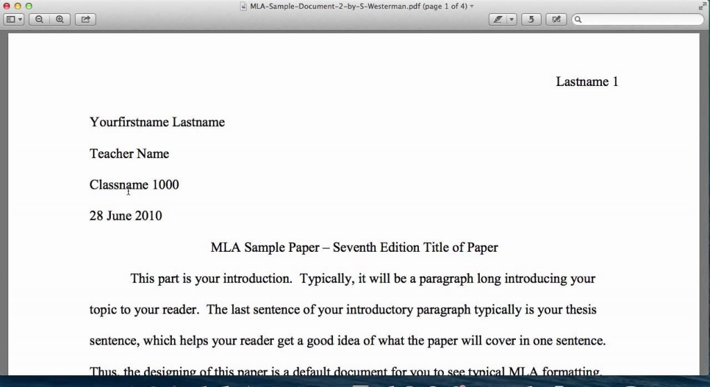 016 Research Paper Example Of An Introduction For Mla Top A Large