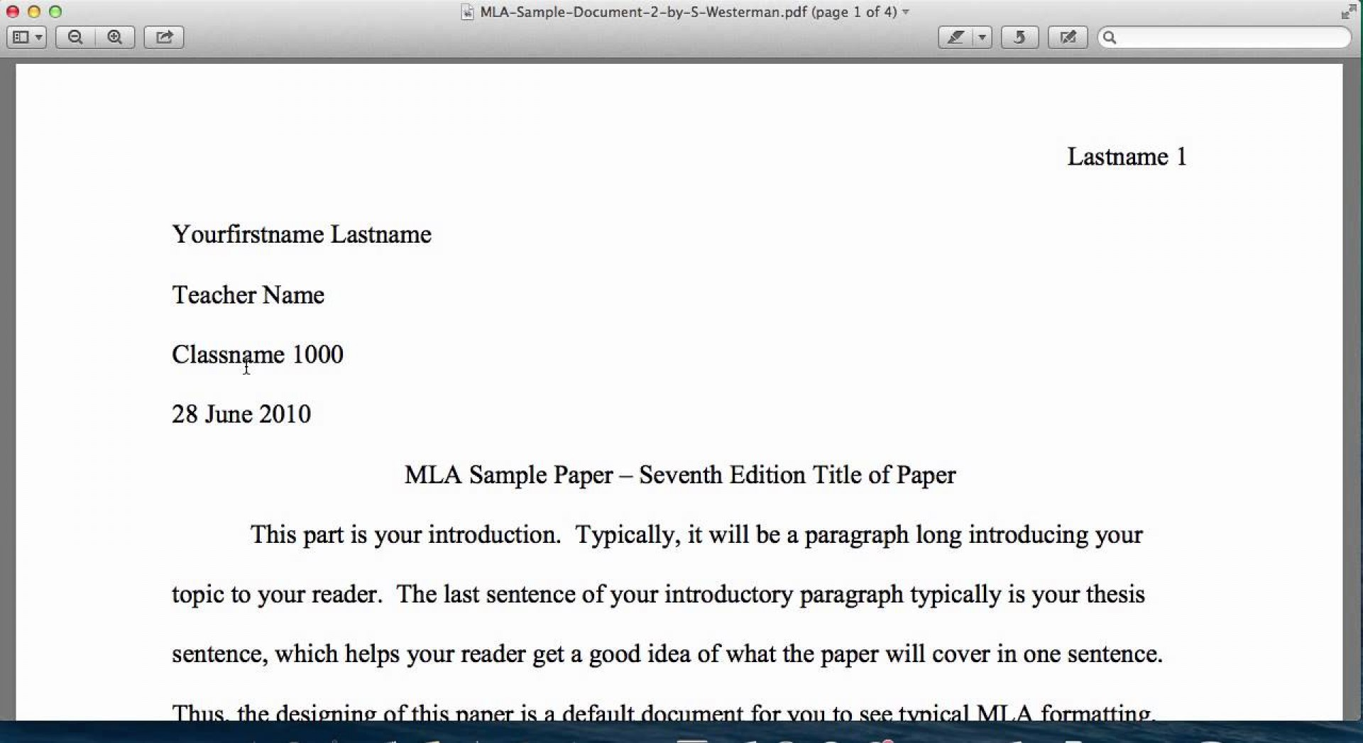 016 Research Paper Example Of An Introduction For Mla Top A 1920