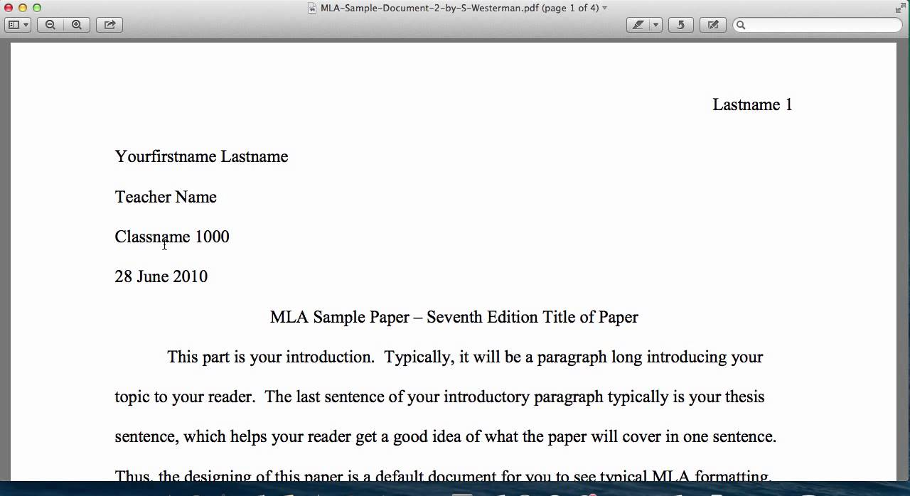 016 Research Paper Example Of An Introduction For Mla Top A Full