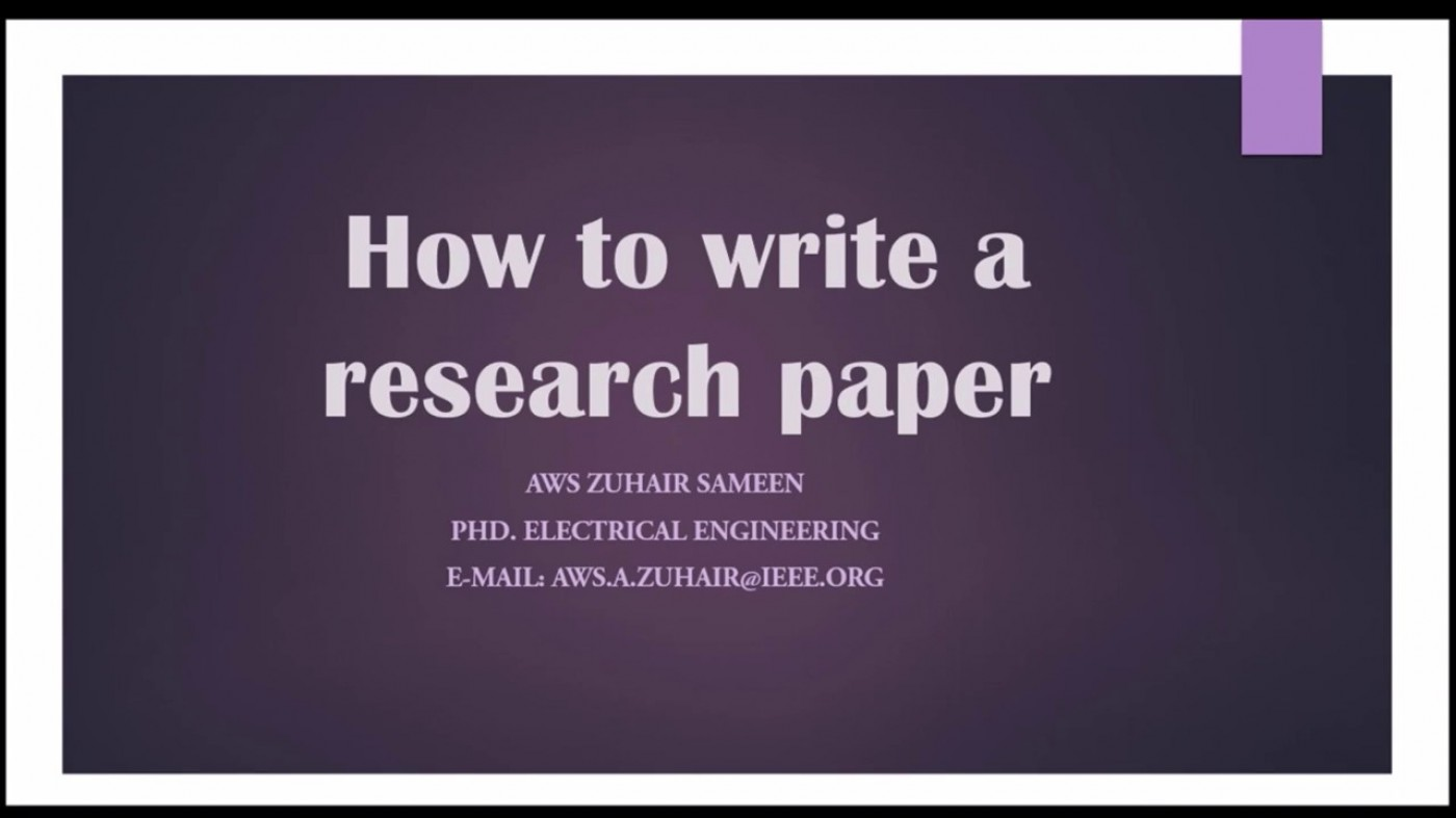 016 Research Paper How To Write Conclusion For Fearsome A Good Science In Example 1400