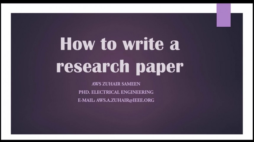 016 Research Paper How To Write Conclusion For Fearsome A Example Apa 868
