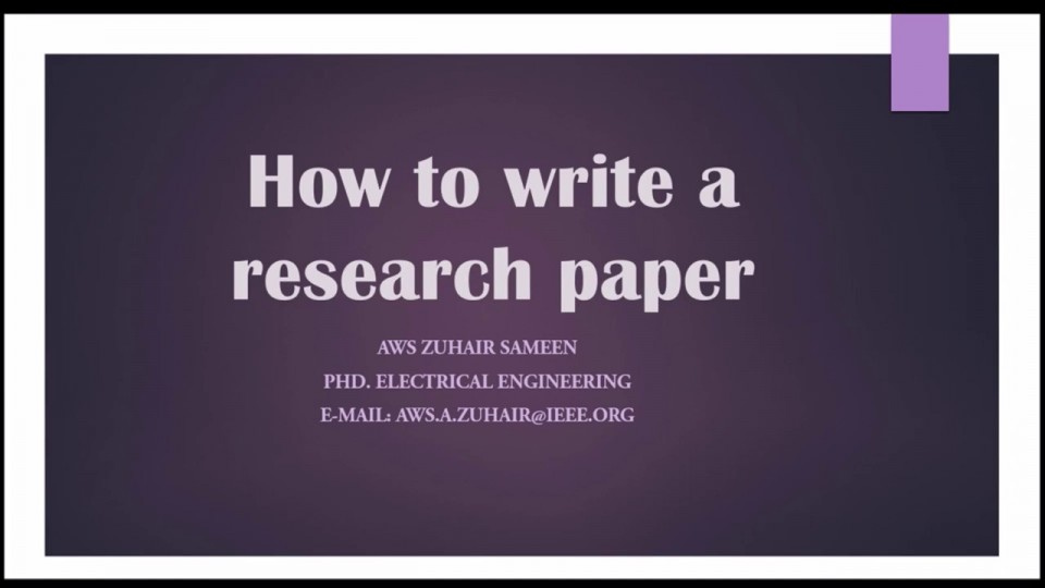 016 Research Paper How To Write Conclusion For Fearsome A Example Apa 960
