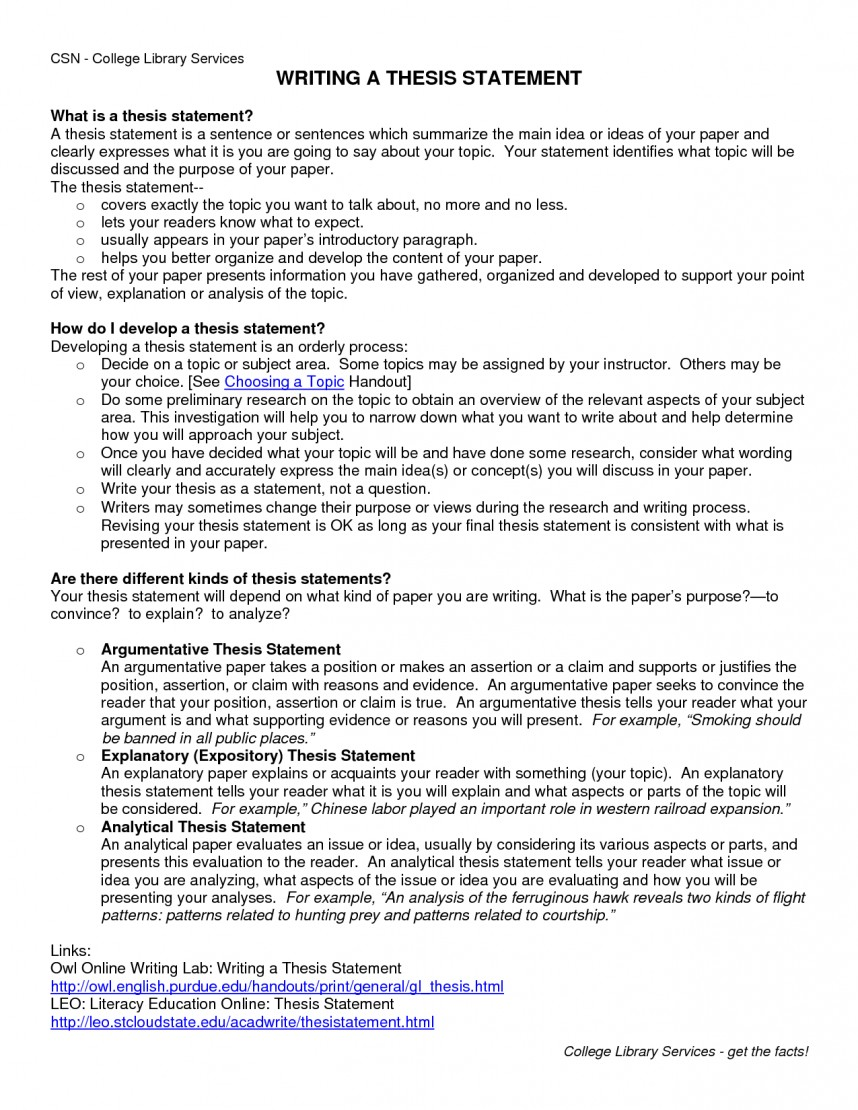 016 Research Paper How To Write Thesis For Shocking A Examples Statement Pdf