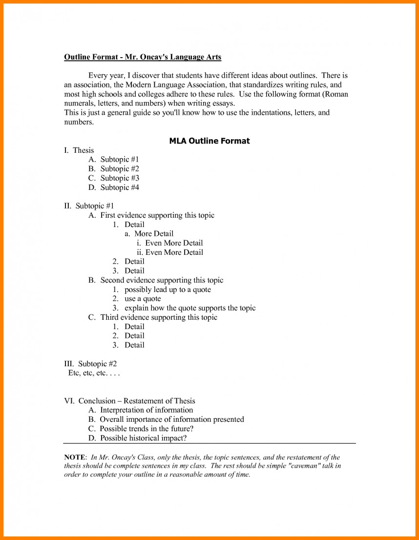 016 Research Paper Mla Format Outlines 148 Awesome Example With Cover Page Sample Style 868