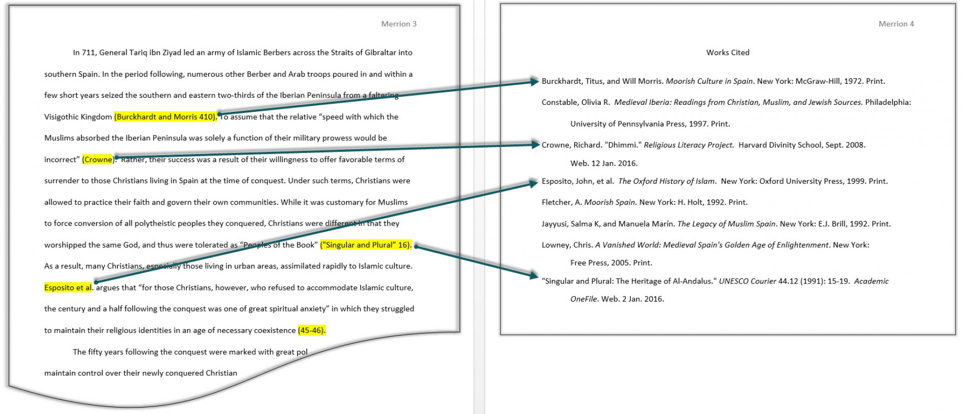 016 Research Paper Mla Sample Citations In Awesome A Citing Sources Citation Example 1920