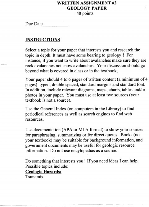016 Research Paper Short Description Page How To Marvelous Do Review Write A Outline Owl Purdue Citing Sources 480