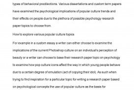 016 Research Papers For Psychology Paper Fascinating Topics Educational Types Of