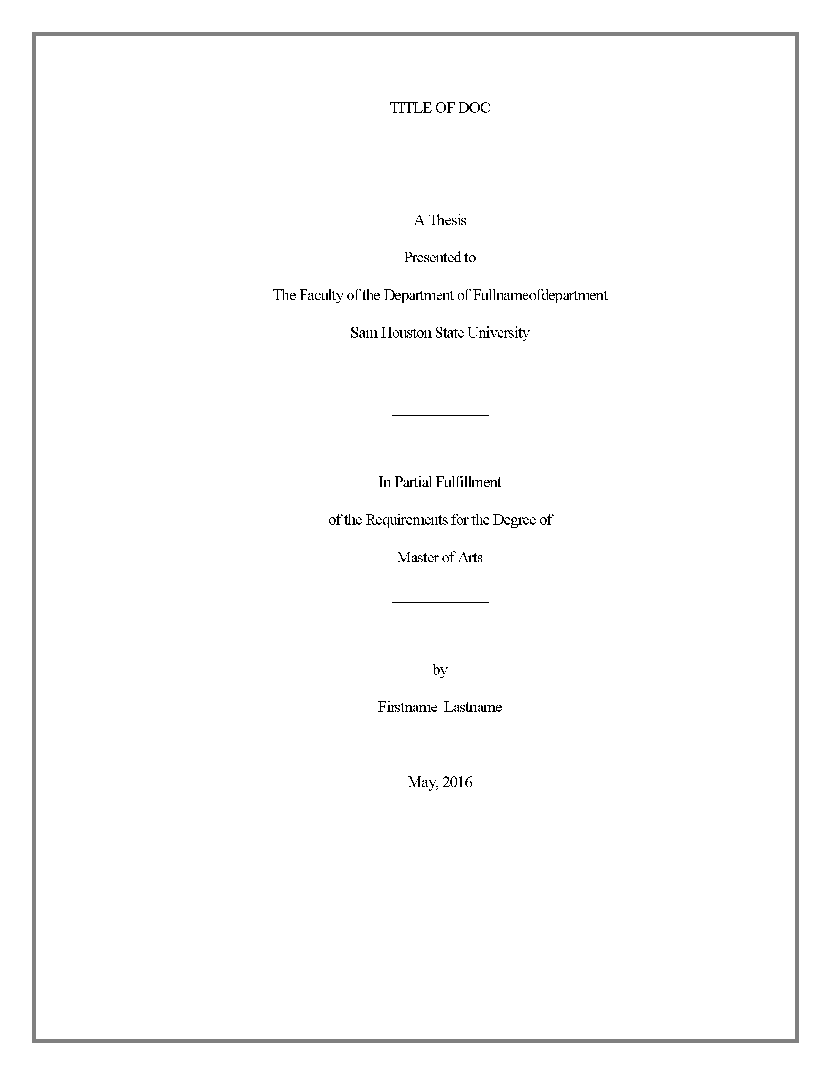 016 Title Page Border High School Biology Research Paper Outstanding Guidelines Full