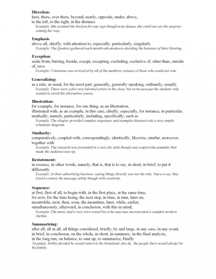 016 Transition Words For Researchs Transitionws Page 2 Best Research Papers List A Science Paper Pdf