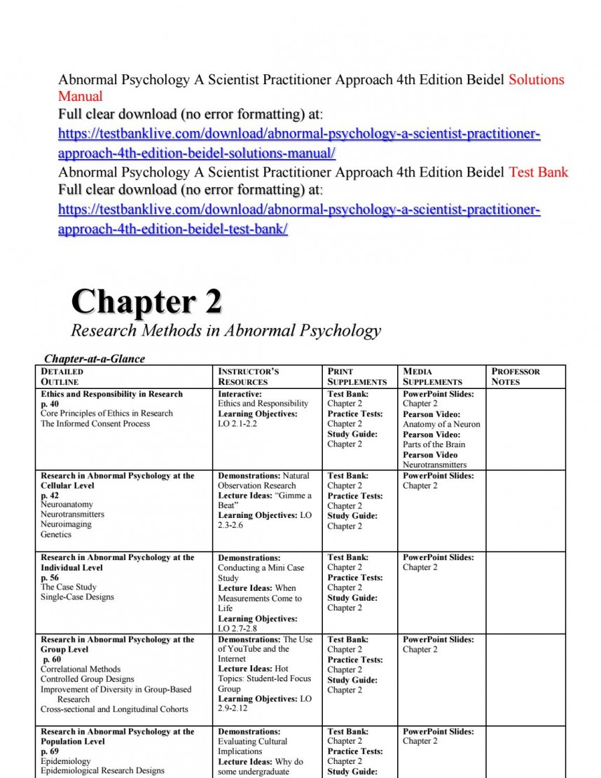 017 Abnormal Psychology Research Paper Ideas Page 1 Formidable Topic
