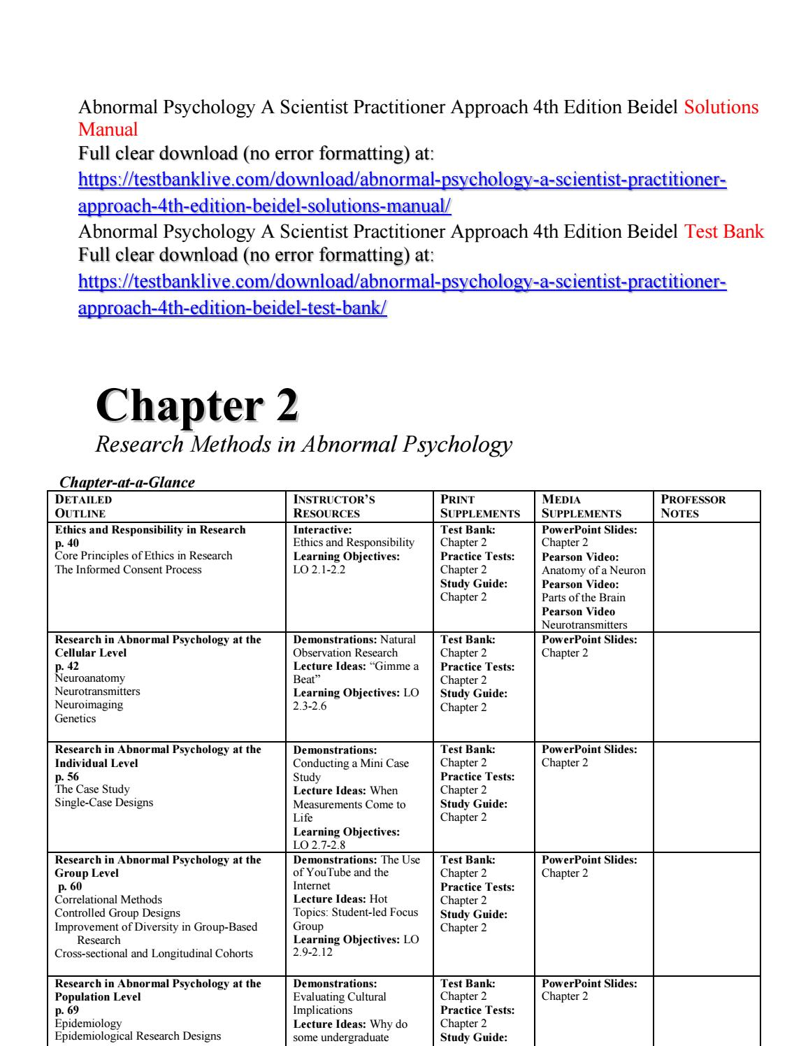 017 Abnormal Psychology Research Paper Ideas Page 1 Formidable Topic Full