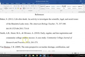 017 Apa Format Research Paper Reference Page Unique References List