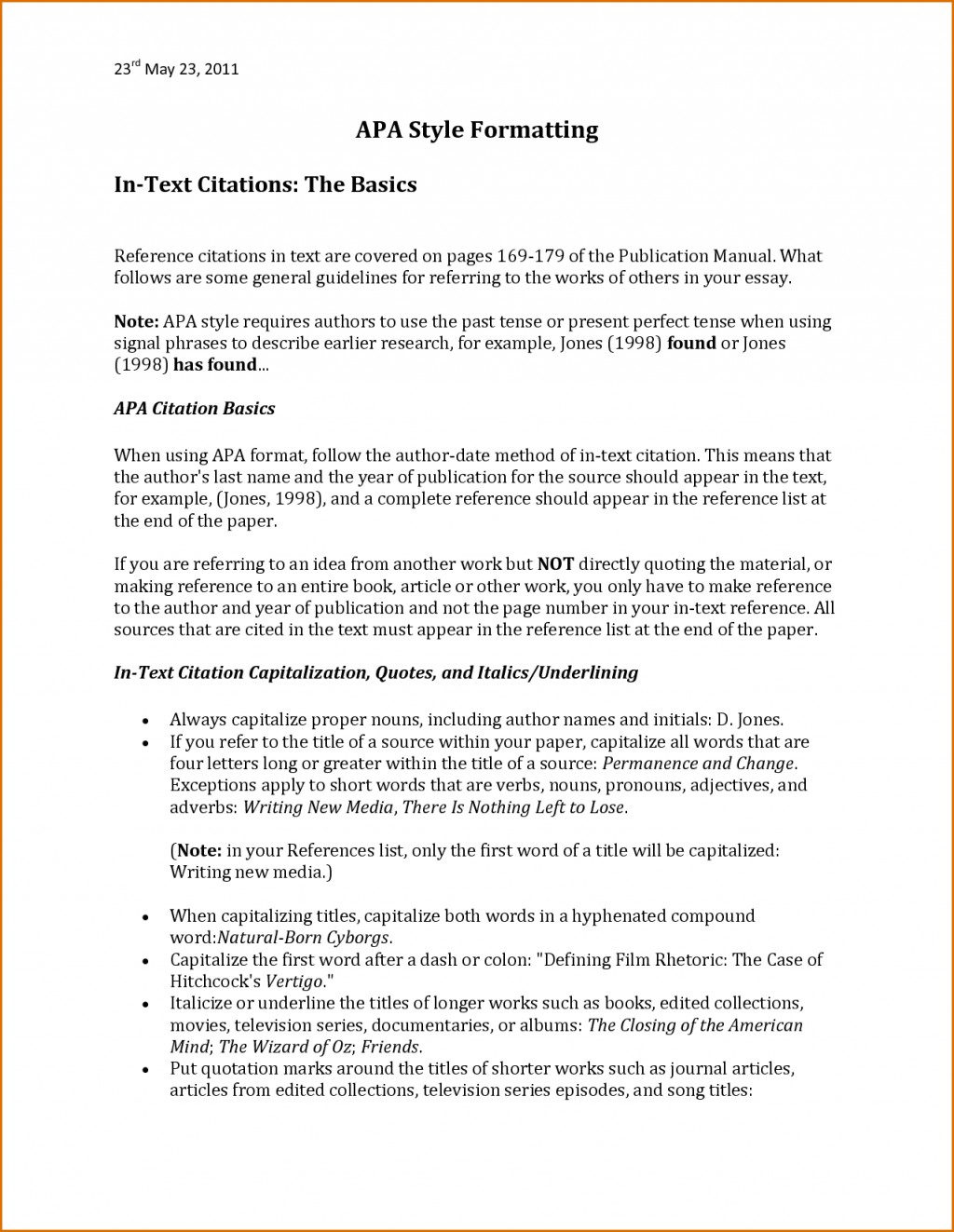 017 Apa Style Research Paper Reference Page Bunch Ideas For Sample In Excellent Large