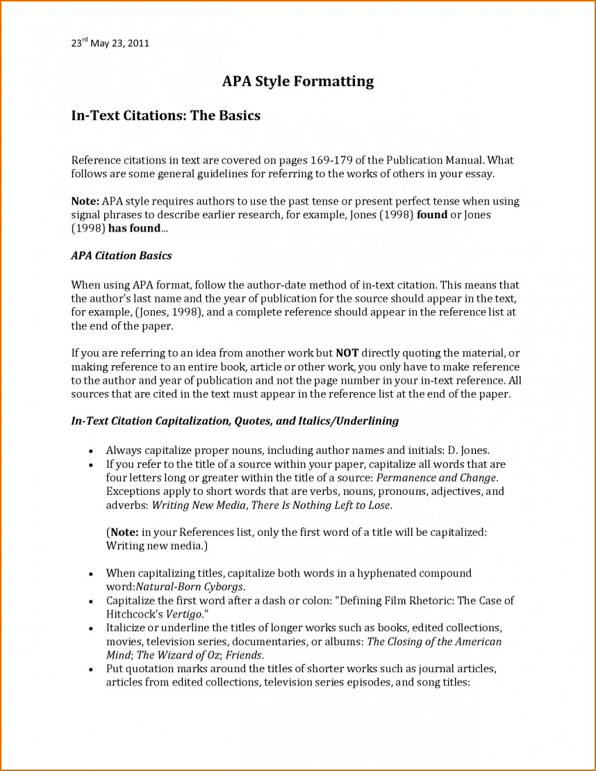 017 Apa Style Research Paper Reference Page Bunch Ideas For Sample In Excellent