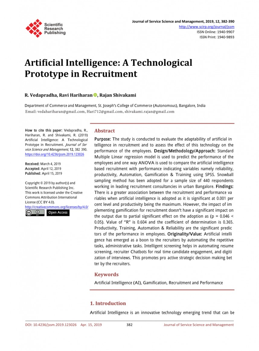 017 Artificial Intelligence Research Paper Awful 2019