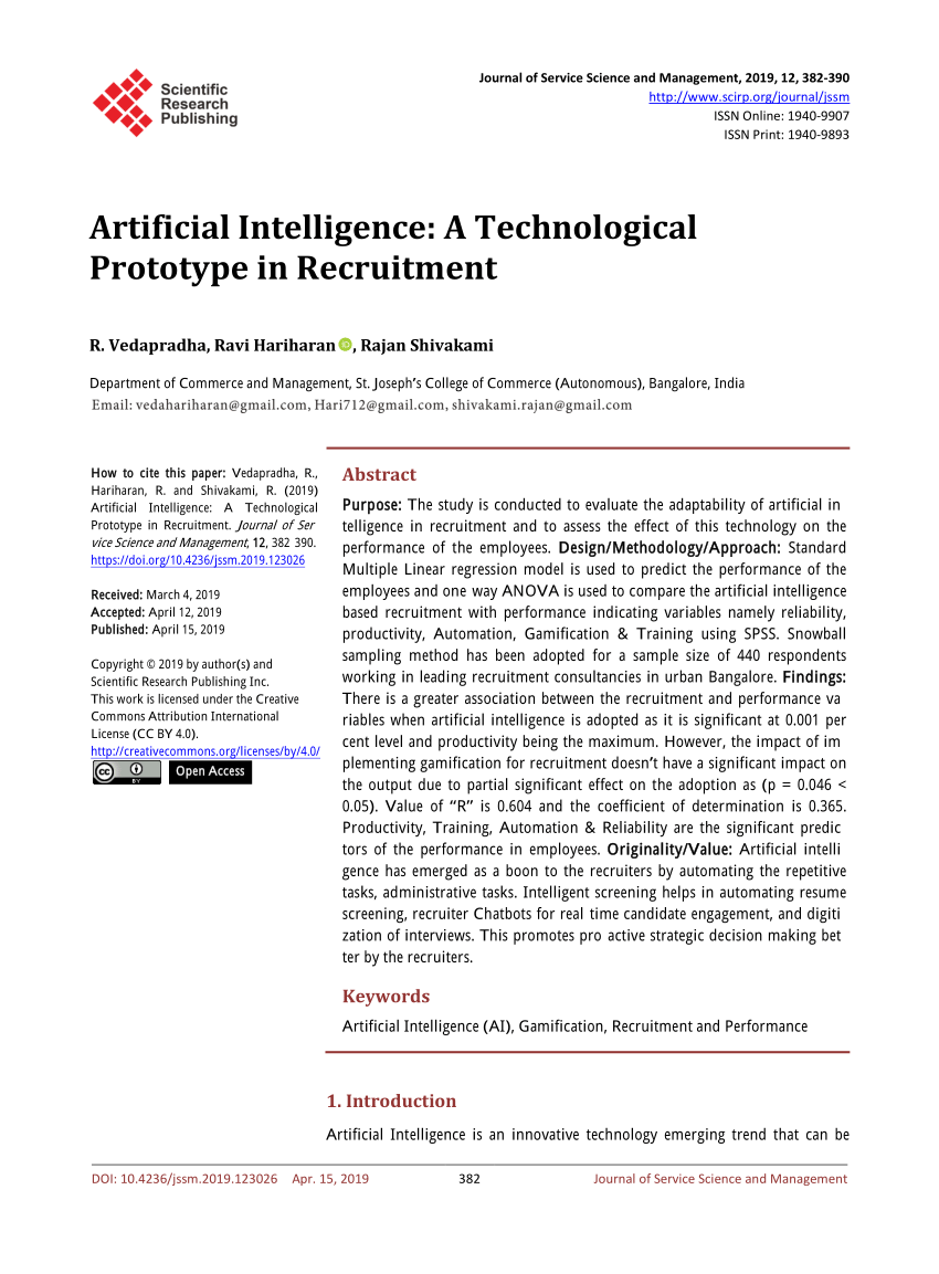017 Artificial Intelligence Research Paper Awful 2019 Full