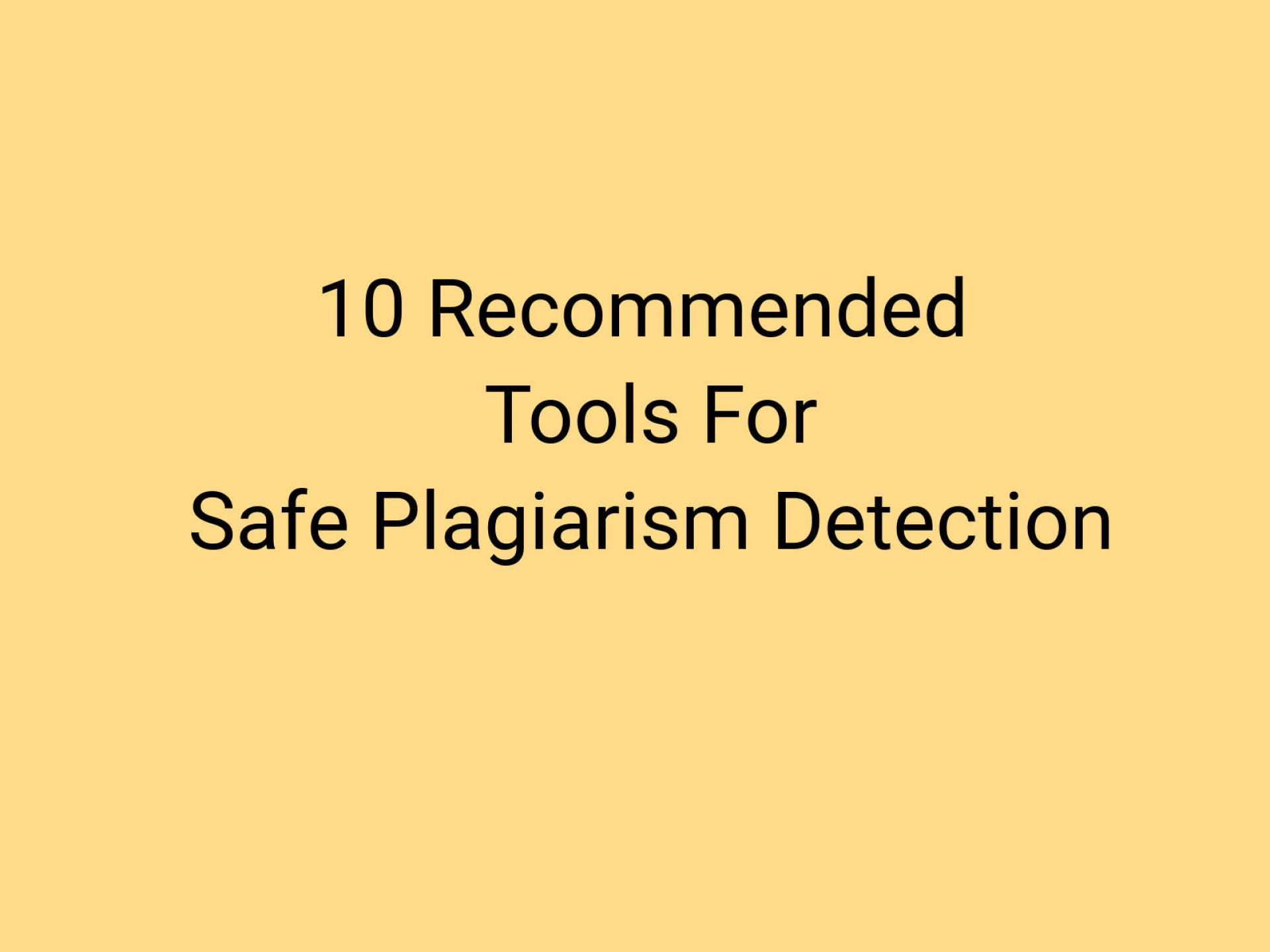 017 Best Free Online Plagiarism Checker For Researchs Detection Software Unusual Research Papers 1920