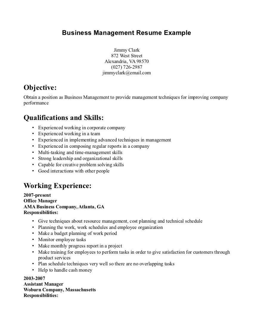 017 Business Management Resume Examples Manager And Get Inspired To Make Your With These Ideas Aeijoj Research Unforgettable Paper Topic Full