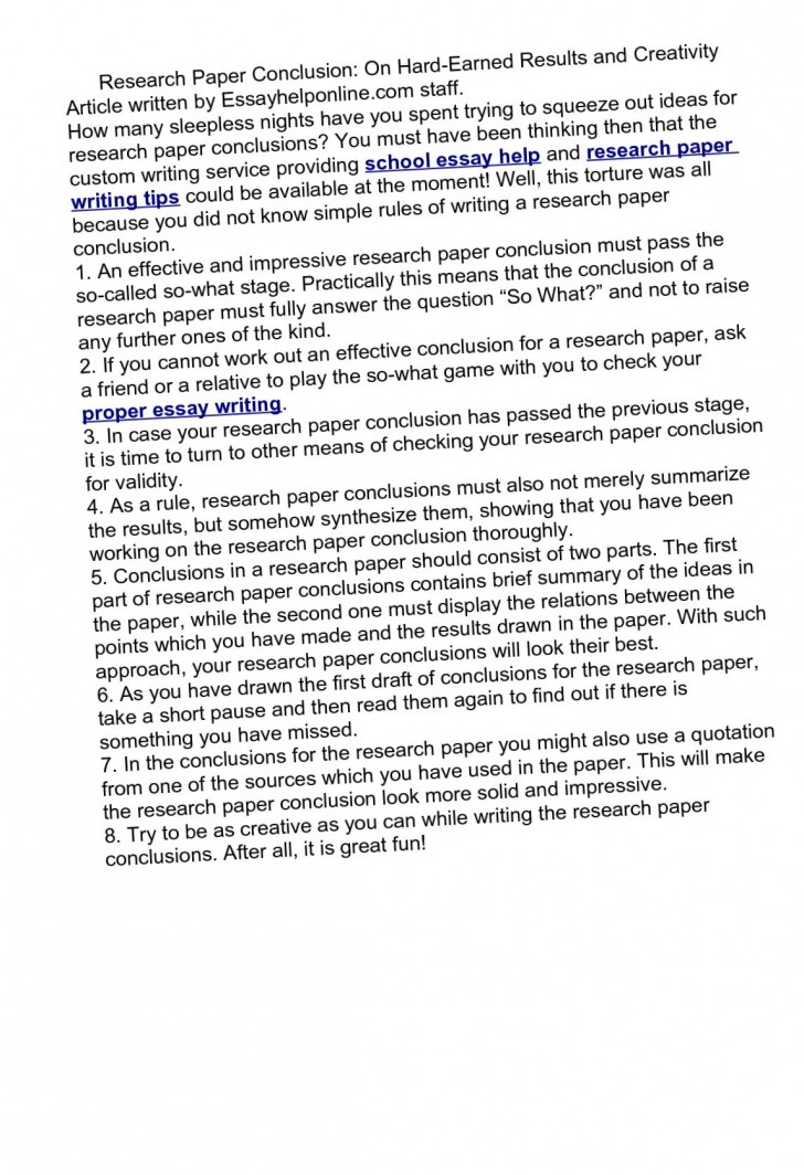 017 Conclusion For Research Paper On Example 14421 Staggering A Writing Good Abortion How To Write Science 728