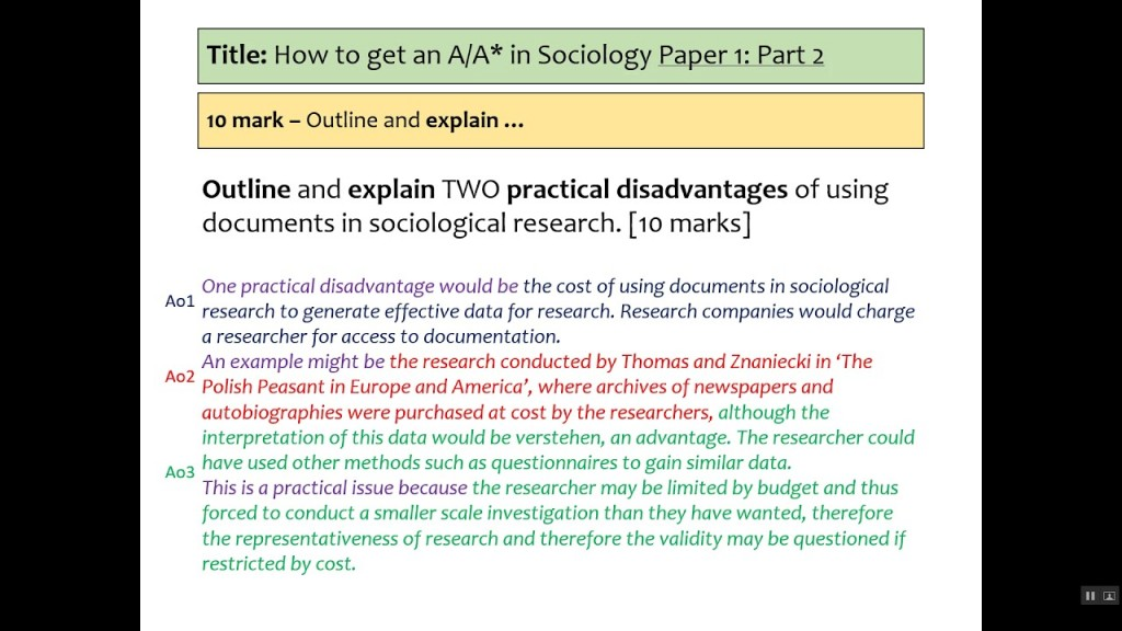 017 Maxresdefault Research Paper Aqa Sociology Methods Past Fantastic Papers Gcse Questions Large