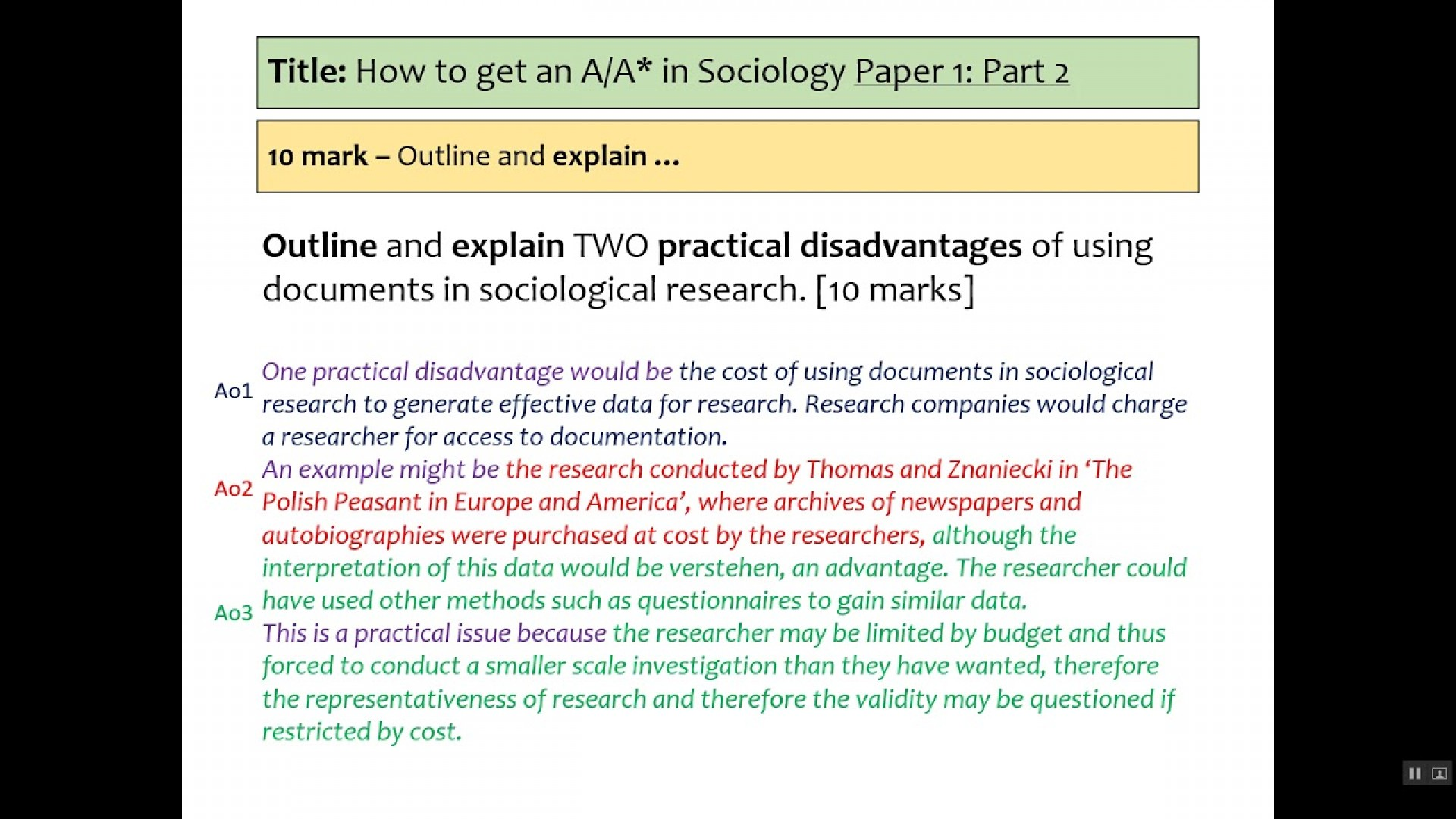 017 Maxresdefault Research Paper Aqa Sociology Methods Past Fantastic Papers Gcse Questions 1920
