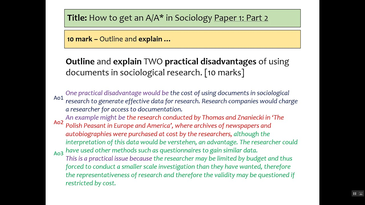 017 Maxresdefault Research Paper Aqa Sociology Methods Past Fantastic Papers Gcse Questions Full