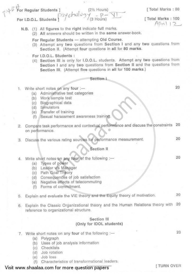 017 Psychologyearch Paper On Dreams University Of Mumbai Bachelor Industrial Organizational T Y Yearly Pattern Semester Tyba 2011 29a03925dfc524f2aa4cb10e4d3da996a Singular Psychology Research Questions Topics 728
