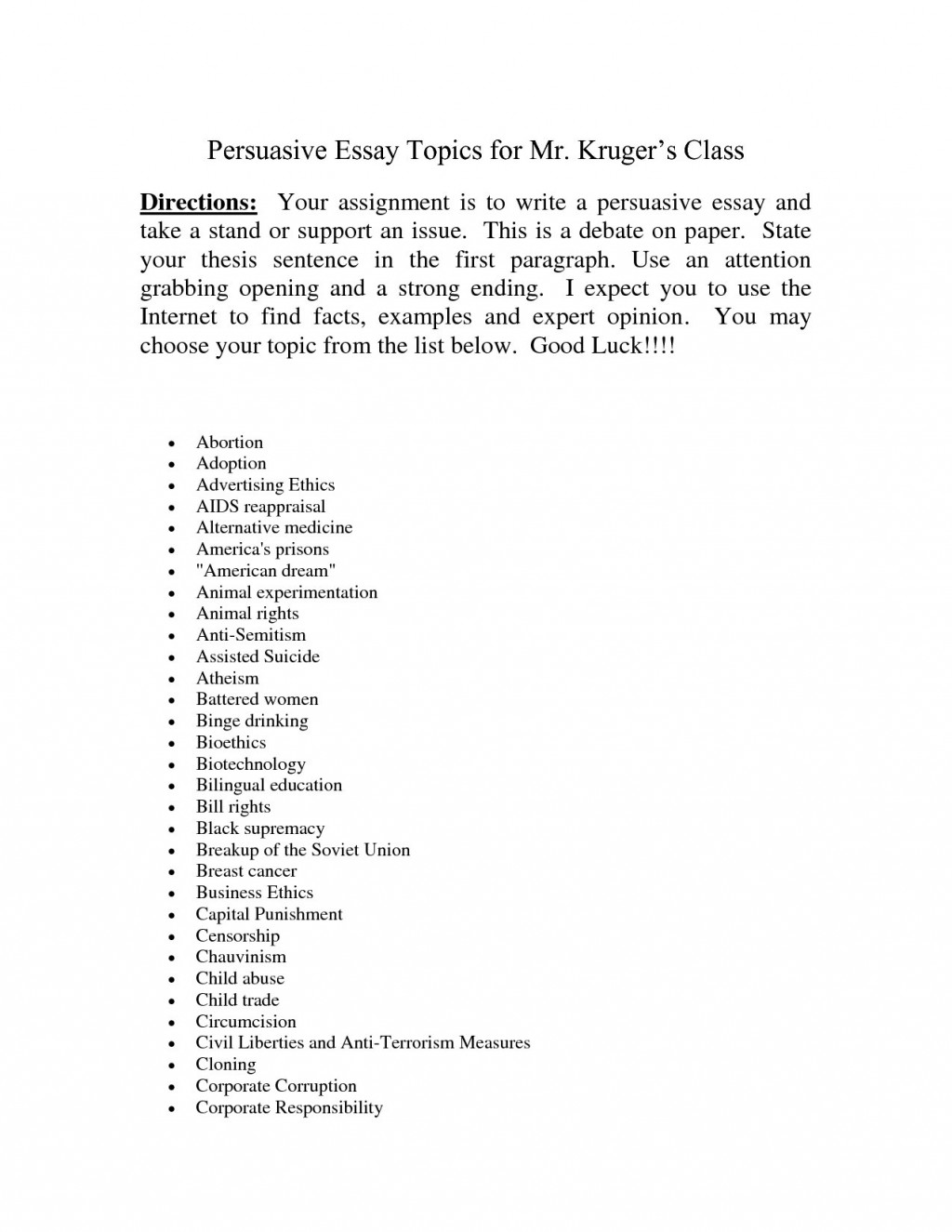 017 Research Paper Argumentative Essay Topics Remarkable 2018 In The Philippines Easy Middle School Large