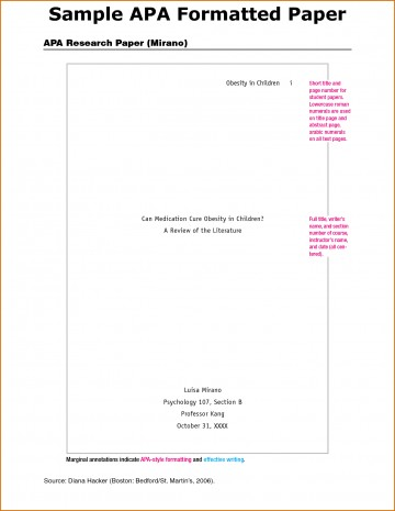017 Research Paper Autism Apa Format Template Frightening - 360