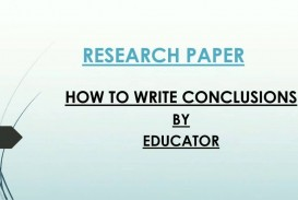 017 Research Paper Conclusion Help Amazing