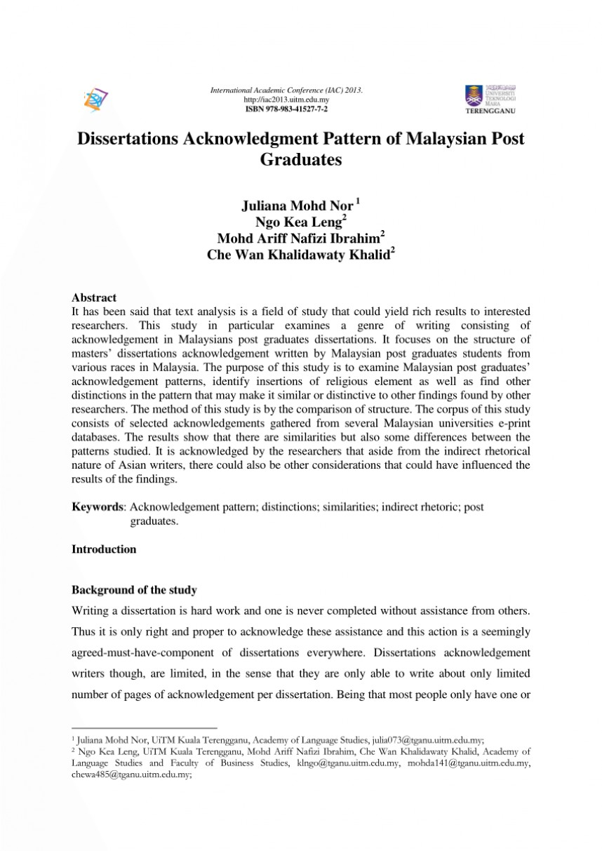 017 Research Paper Largepreview Acknowledgement Example Rare For Pdf