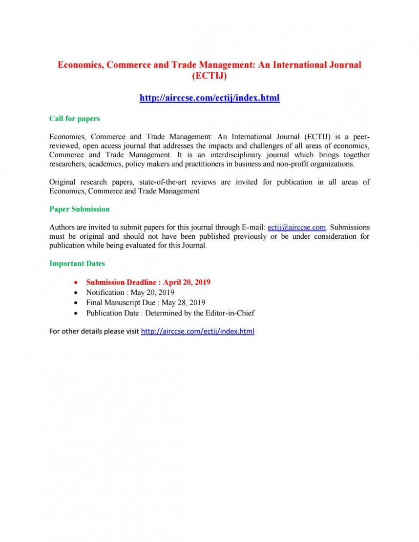017 Research Paper Page 1 How To Publish Management In International Archaicawful A Journal