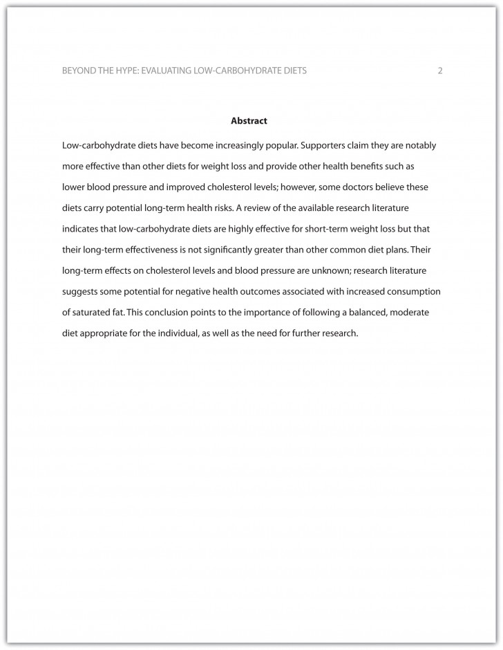 017 Research Paper Parts Of Apa Wonderful Format 728