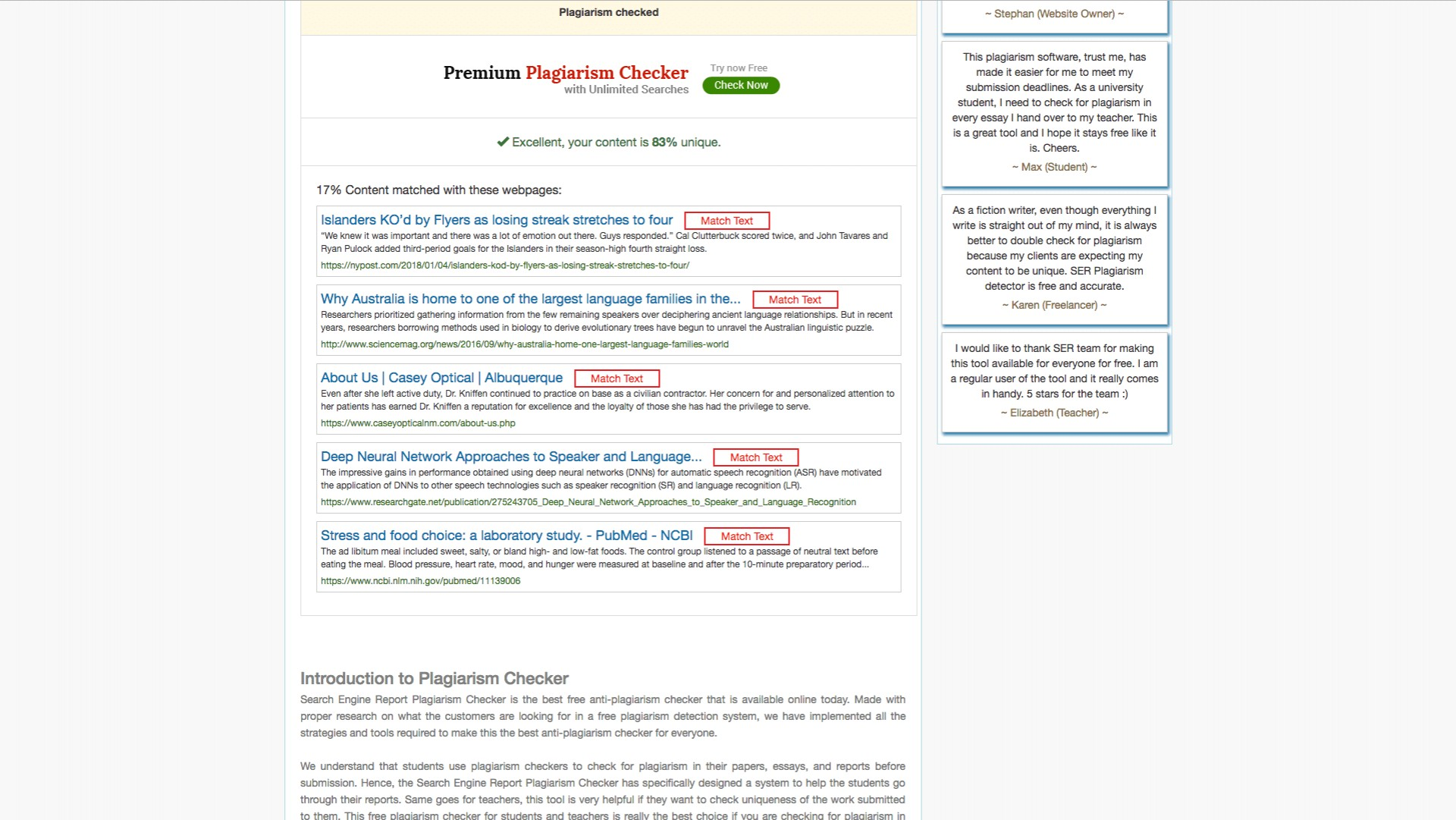 017 Searchenginereports Free Plagiarism Checker For Students Online Research Unique Turnitin Check With Percentage Software 1920