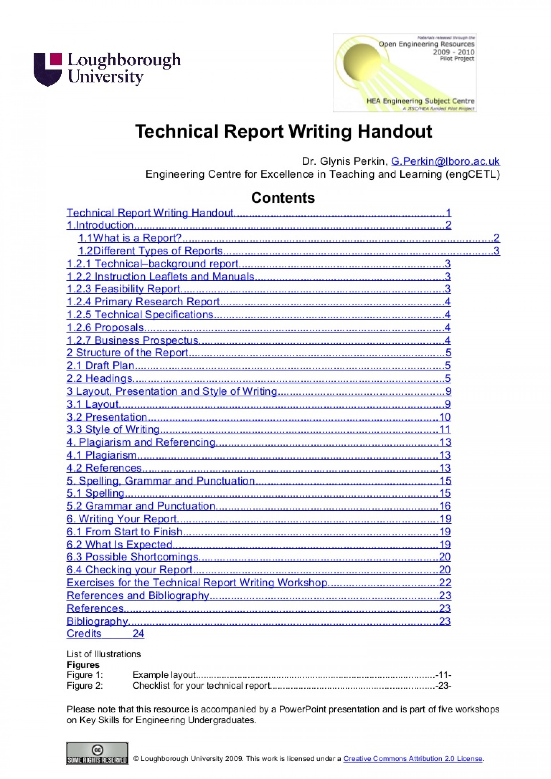 017 Technicalreportwritinghandout Oeredit Phpapp02 Thumbnail How To Write References In Research Paper Excellent Slideshare 1920