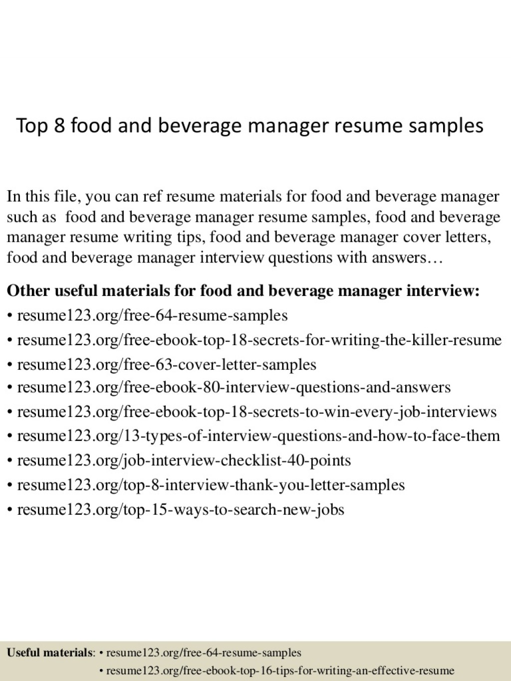 017 Top8foodandbeveragemanagerresumesamples Conversion Gate02 Thumbnail 4cbu003d1429946005 Research Paper Persuasive Astounding Papers Interesting Topics For Large