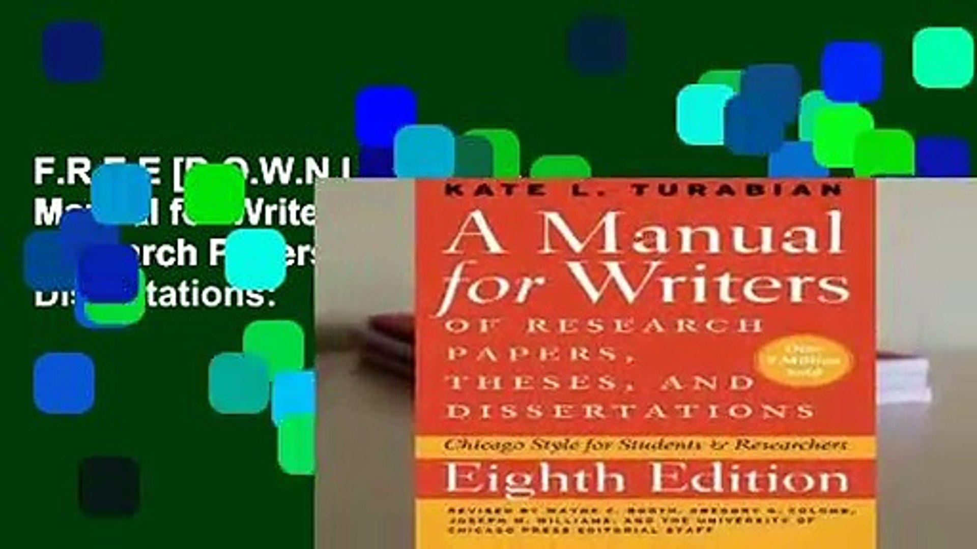 017 X1080 Dop Research Paper Manual For Writers Of Papers Theses And Dissertations Fearsome A Ed 8 Full