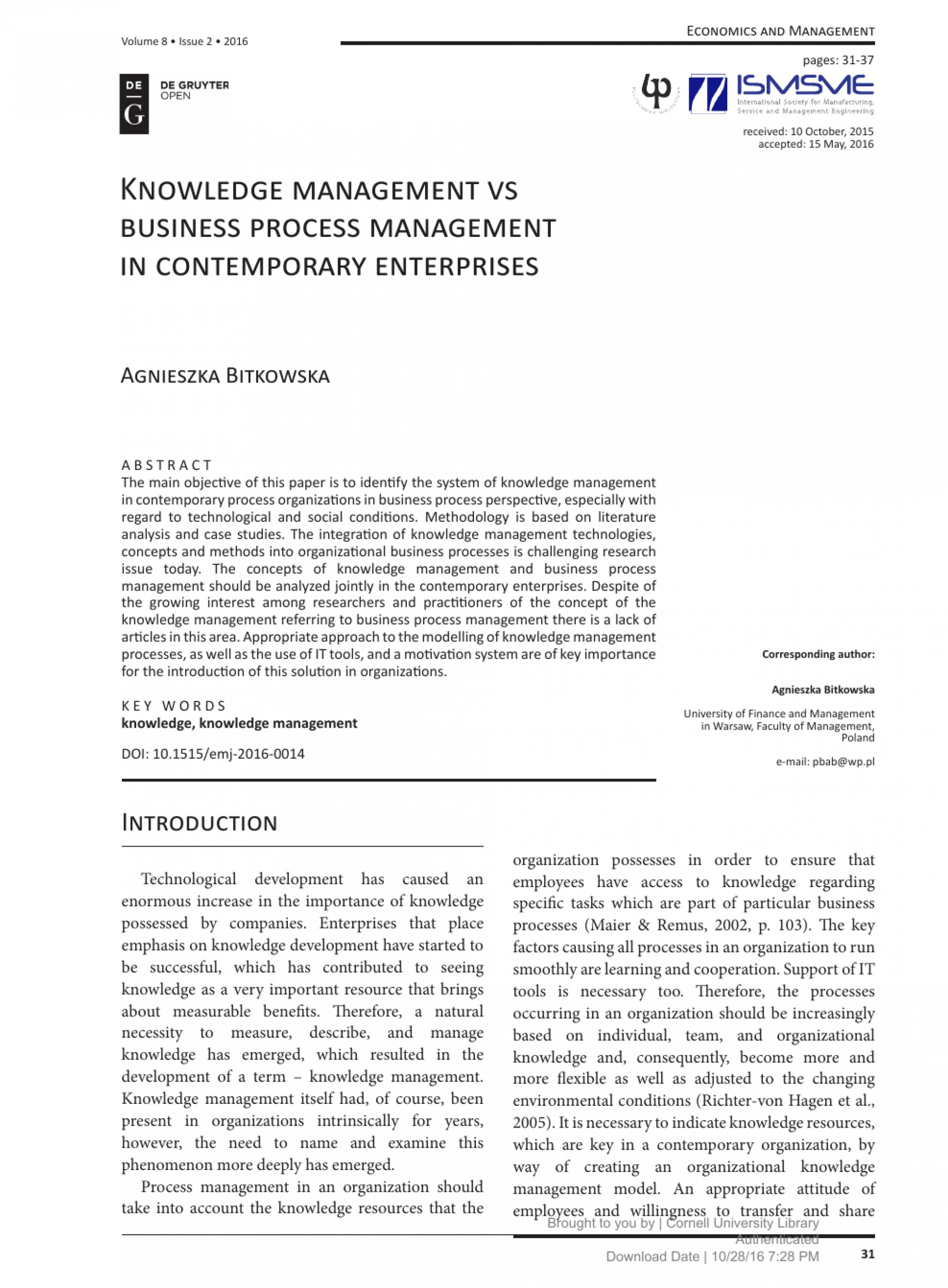 018 Business Management Research Paper Topics Singular Small Pdf 1920