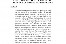 018 Conclusion Bullying Research Paper Dreaded