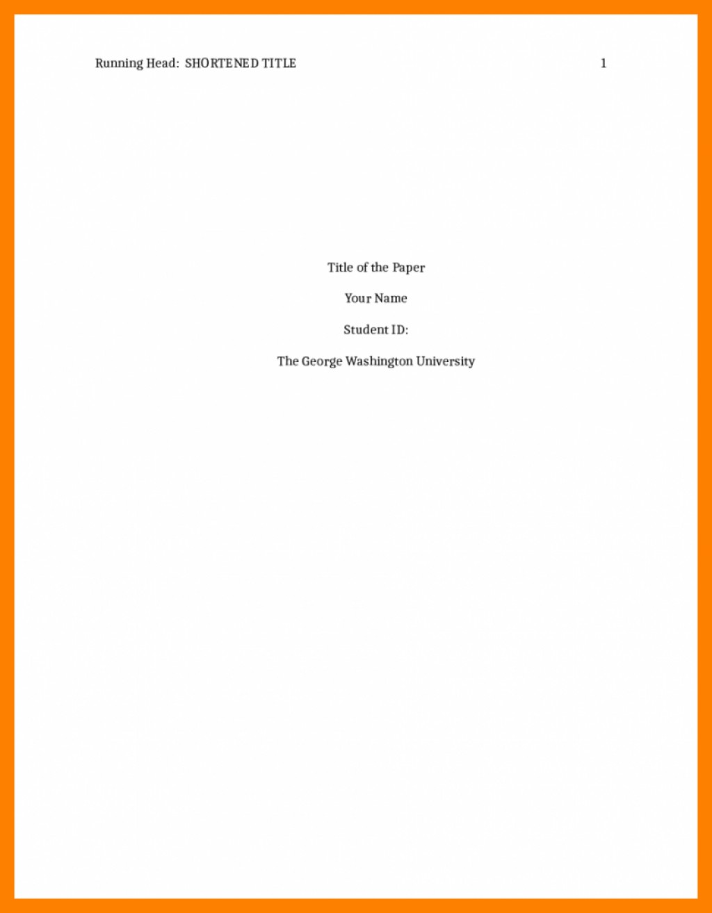 018 Cover Page Template For Research Paper Apa Portfolio Format Title Rare Sample How To Do A Large