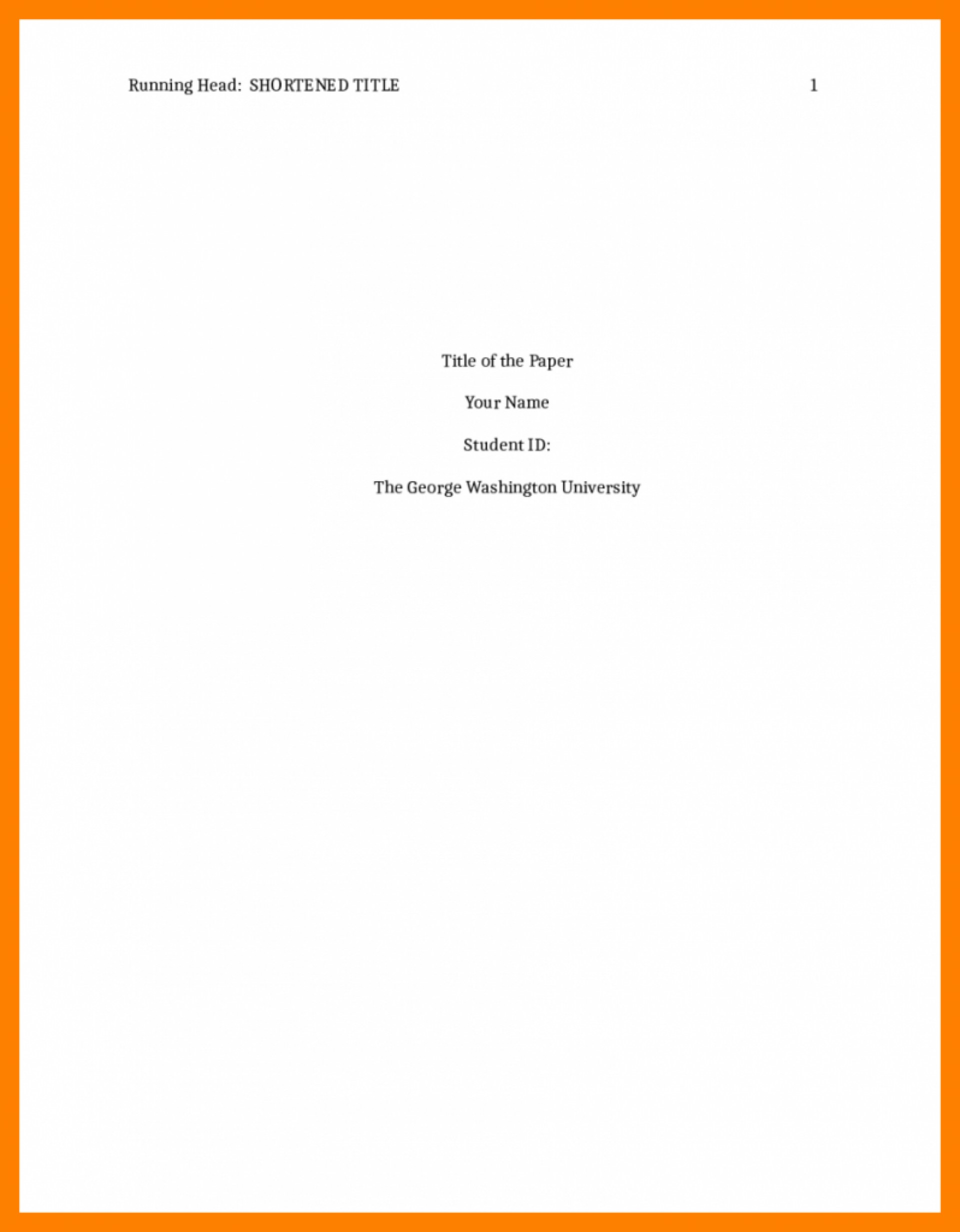 018 Cover Page Template For Research Paper Apa Portfolio Format Title Rare Sample How To Do A 1920