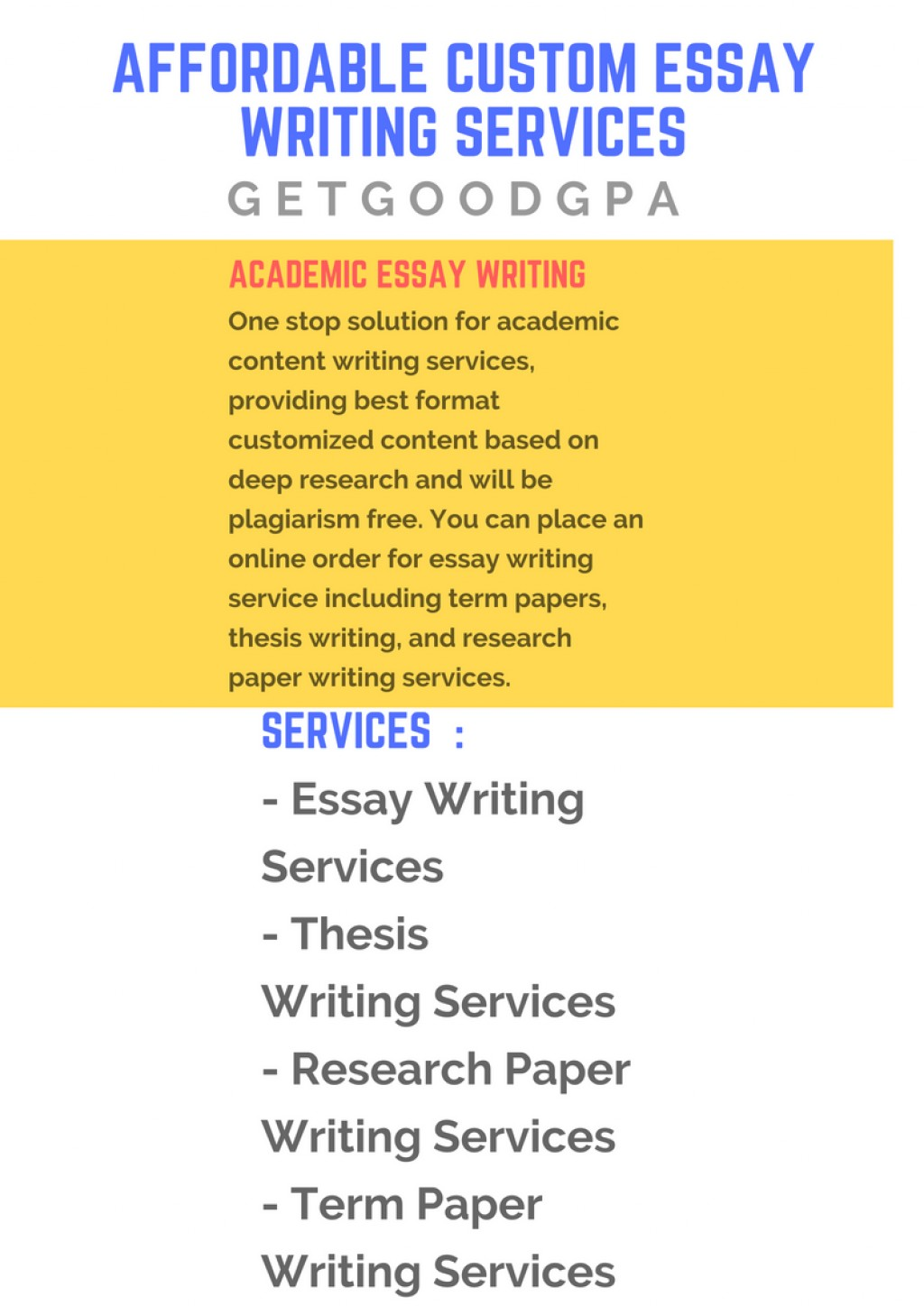 018 Customized Research Paper Affordable Custom Essay Writing Awesome Large